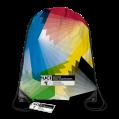 Swirling Rainbow 'Y' Drawstring Bag