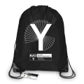 Mono Y Black Drawstring Bag